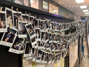 First timers wall of fame polaroids